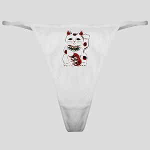 White Maneki Neko Classic Thong