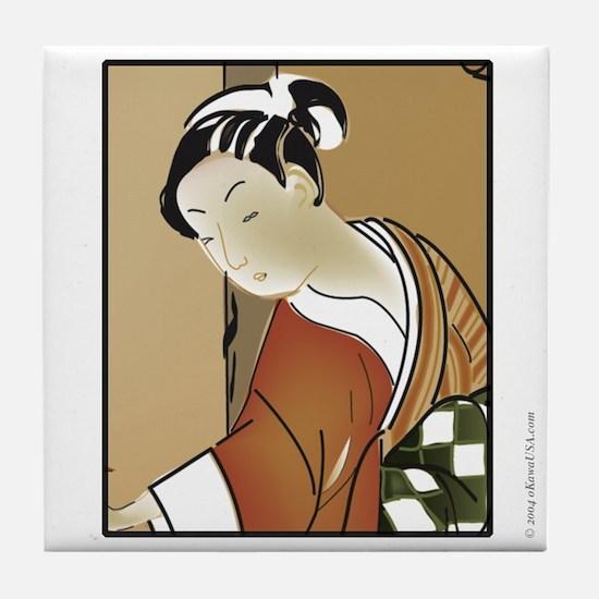 Geisha; Woman of the arts Tile Coaster