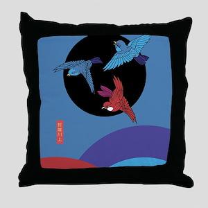 Sparrow's Dancing Throw Pillow