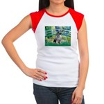 Bridge / Keeshond Women's Cap Sleeve T-Shirt