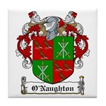 O'Naughton Family Crest Tile Coaster