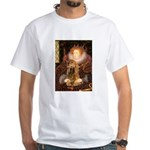 Queen / Cocker Spaniel (br) White T-Shirt