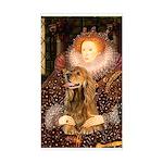 Queen / Cocker Spaniel (br) Sticker (Rectangle)