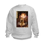 Queen / Cocker Spaniel (br) Kids Sweatshirt