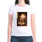 Queen / Cocker Spaniel (br) Jr. Ringer T-Shirt