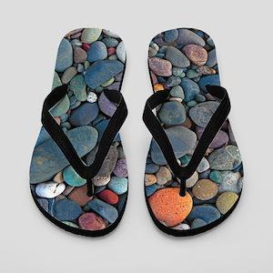 Beach Rocks Flip Flops