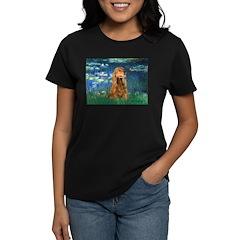Lilies (5)/Cocker (br) Women's Dark T-Shirt