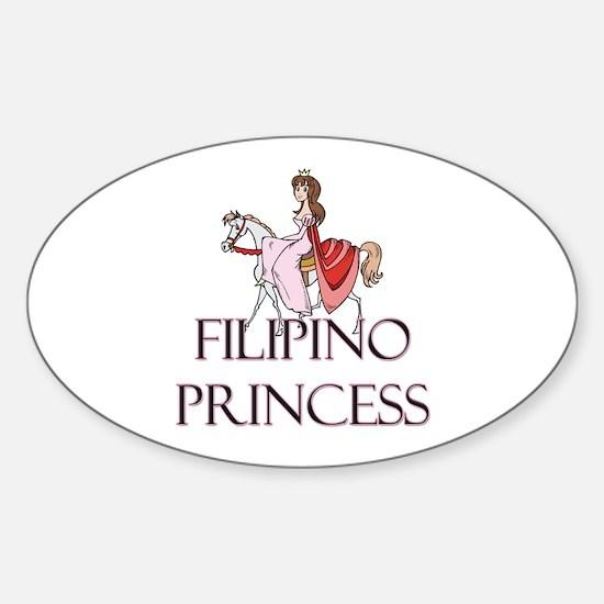 Filipino Princess Oval Decal