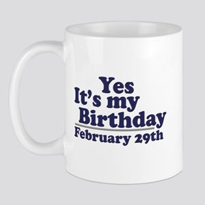 February 29th Birthday Mug