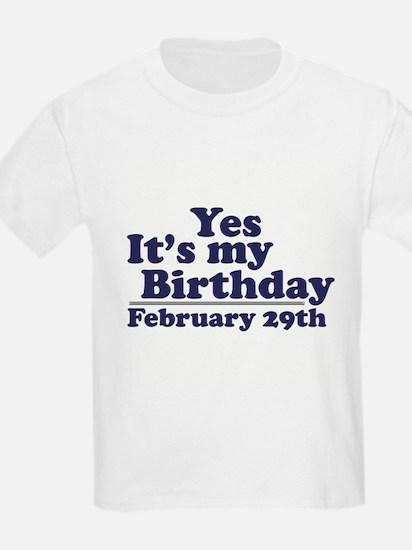 February 29th Birthday T-Shirt