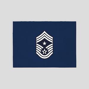 USAF: CCM E-9 (Blue) 5'x7'Area Rug