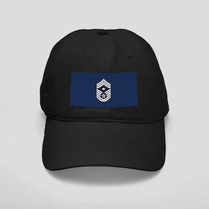 USAF: CMSgt E-9 (Blue) Black Cap with Patch