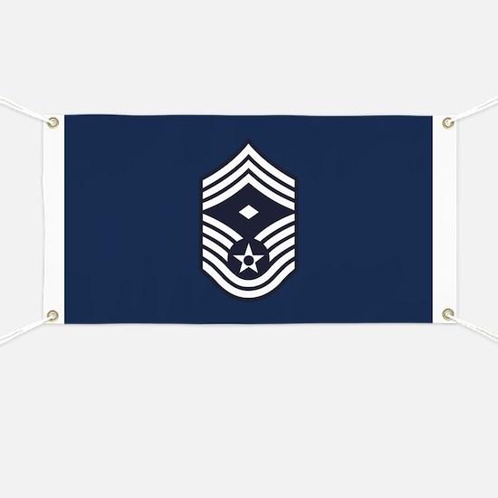 USAF: CMSgt E-9 (Blue) Banner