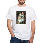 Ophelia / Cocker Spaniel (buff) White T-Shirt