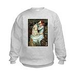 Ophelia / Cocker Spaniel (buff) Kids Sweatshirt