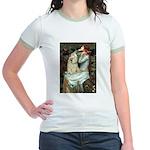 Ophelia / Cocker Spaniel (buff) Jr. Ringer T-Shirt