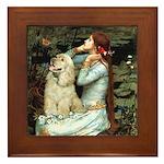 Ophelia / Cocker Spaniel (buff) Framed Tile