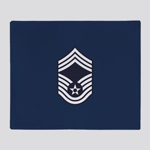 USAF: CMSgt E-9 (Blue) Throw Blanket