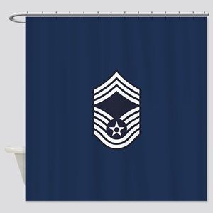 USAF: CMSgt E-9 (Blue) Shower Curtain