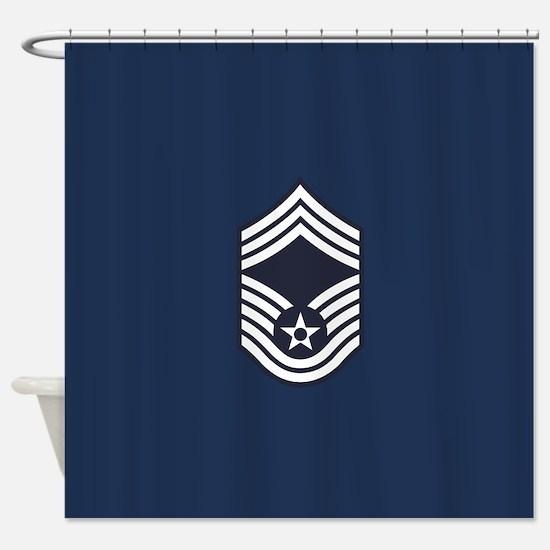 USAF: CMSgt E-9 (Blue) Shower Curtain