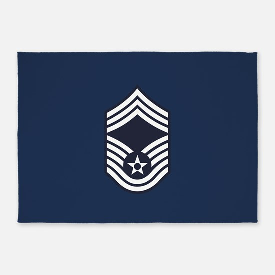 USAF: CMSgt E-9 (Blue) 5'x7'Area Rug