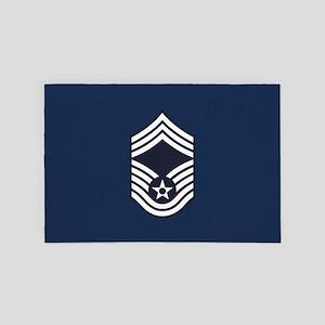 USAF: CMSgt E-9 (Blue) 4' x 6' Rug