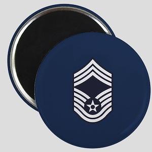 USAF: CMSgt E-9 (Blue) Magnet