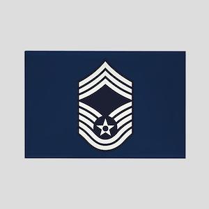 USAF: CMSgt E-9 (Blue) Rectangle Magnet