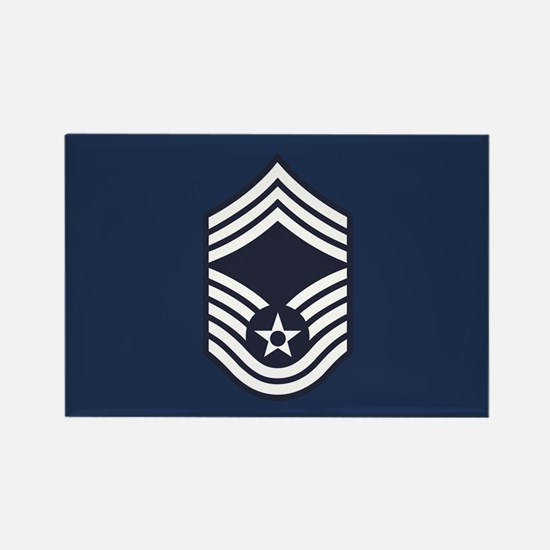 USAF: CMSgt E-9 (Blue) Rectangle Magnet