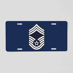 USAF: CMSgt E-9 (Blue) Aluminum License Plate