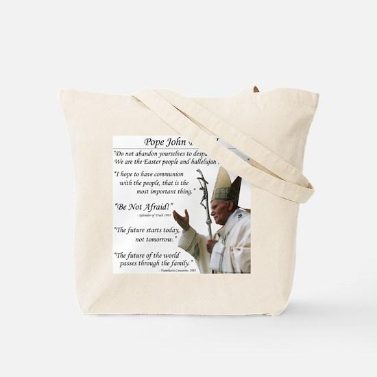 Pope John Paul II Tote Bag