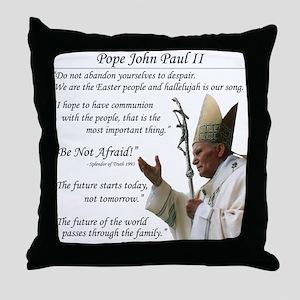 Pope John Paul II Throw Pillow