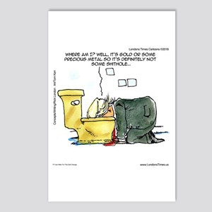 Trump & Gold Toilet Postcards (package Of 8)