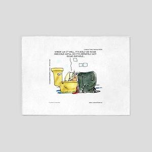 Trump & Gold Toilet Throne 5'x7'Area Rug