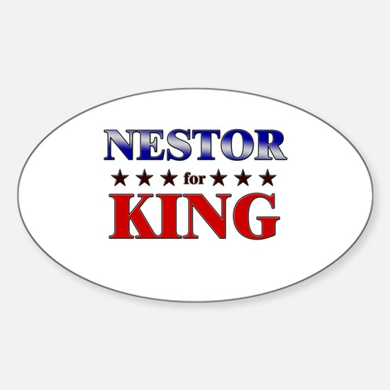 NESTOR for king Oval Decal