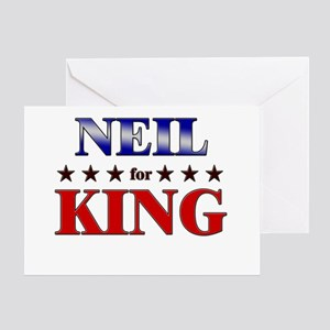 NEIL for king Greeting Card