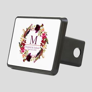 Boho Wreath Wedding Monogram Hitch Cover