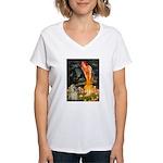 Midsummer / Cocker Spaniel Women's V-Neck T-Shirt