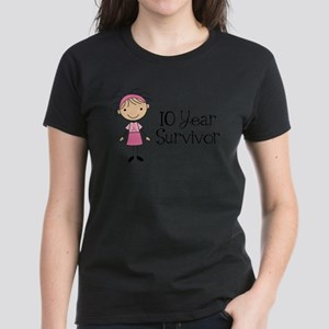 10 Year Survivor Breast Cancer Women's Light T-Shi