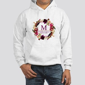 Boho Wreath Wedding Monogram Sweatshirt