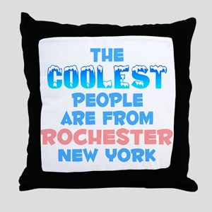 Coolest: Rochester, NY Throw Pillow