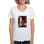 Accolade / Cocker Spaniel Women's V-Neck T-Shirt
