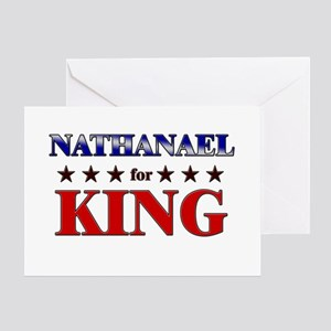 NATHANAEL for king Greeting Card