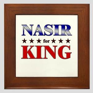 NASIR for king Framed Tile