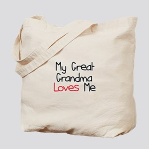 My Great Grandma Loves Me Tote Bag