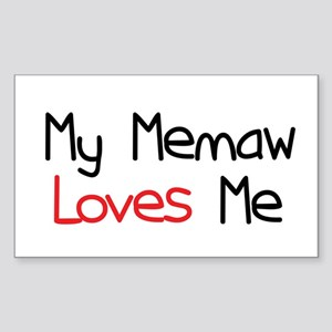 My Memaw Loves Me Rectangle Sticker