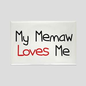 My Memaw Loves Me Rectangle Magnet