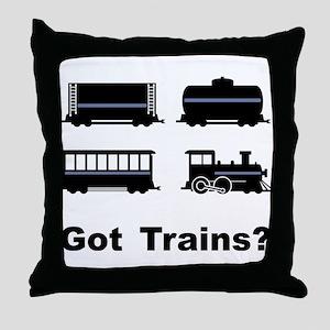 Got Trains? Throw Pillow
