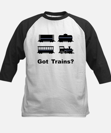 Got Trains? Kids Baseball Jersey