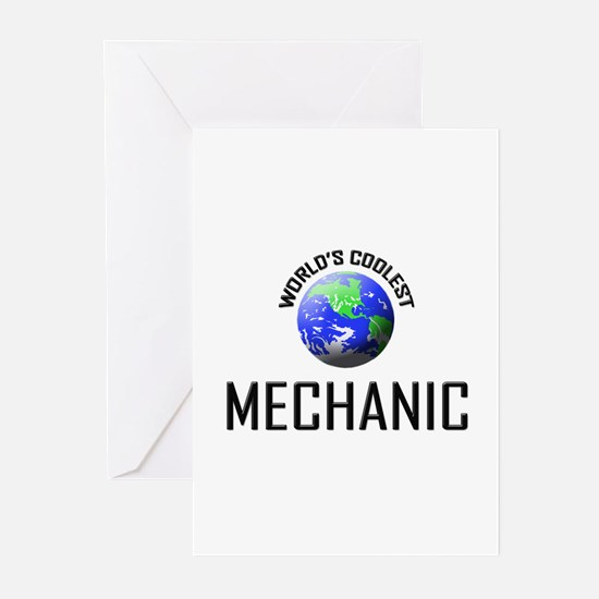 World's Coolest MECHANIC Greeting Cards (Pk of 10)